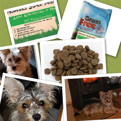 Futtertest, Hundefutter, Geflügel Croque