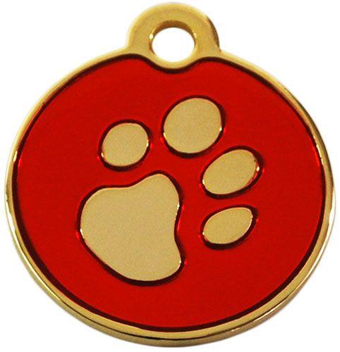 Hundemarke klein rund 24ct gold plated