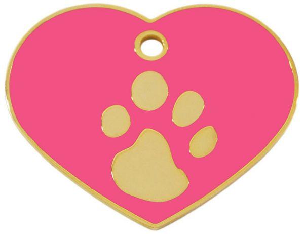 Hundemarke groß Herz 24ct gold-Plated