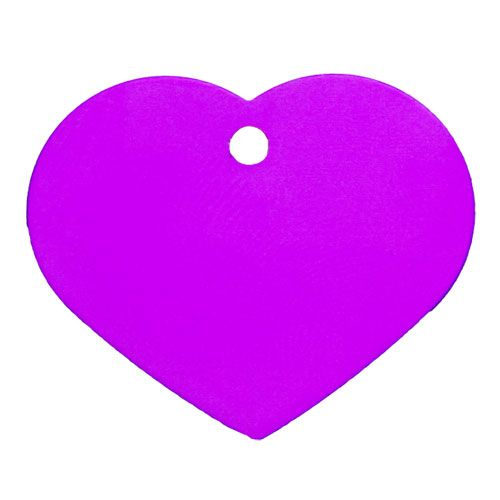 Hundemarke Herz groß 4 x 3cm